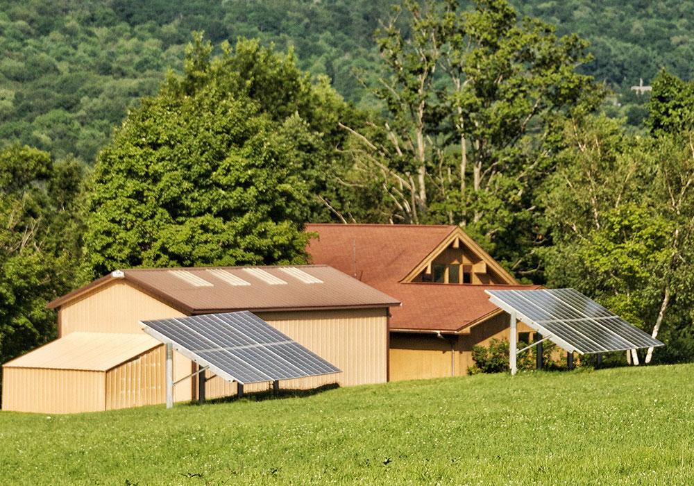 Solar Panel Installation Outdoors